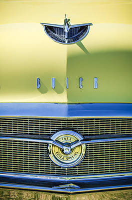 Buick Grill Photograph - 1956 Buick Special Hood Ornament - Emblem -0538c by Jill Reger