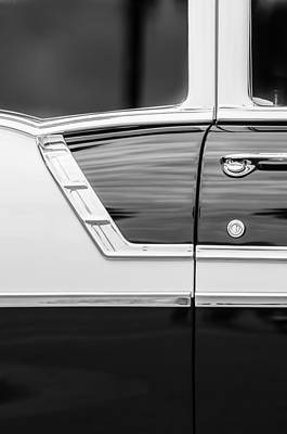 American Cars Photograph - 1956 Chevrolet 2-door Side -005bw by Jill Reger