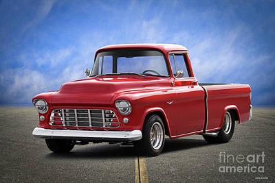Photograph - 1956 Chevrolet 3100 Fleetside Pickup I by Dave Koontz