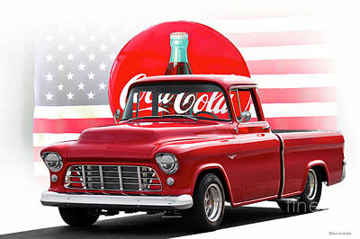 Photograph - 1956 Chevrolet 3100 Pickup 'american Icons' by Dave Koontz