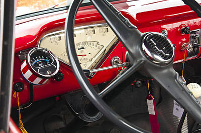 Photograph - 1956 Chevrolet 3100 Step Side Truck Dash by Glenn Gordon