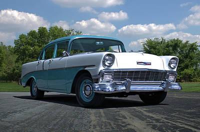 Photograph - 1956 Chevrolet 4 Door by TeeMack