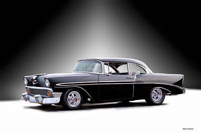 Going Green - 1956 Chevrolet Bel Air Basic Black by Dave Koontz