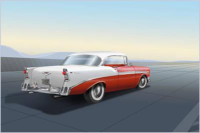 1956 Chevrolet Bel Air Art Print by Marty Garland