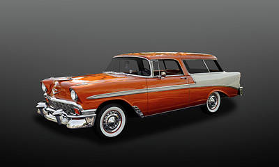 Photograph - 1956 Chevrolet Bel Air Nomad  -  56chevnomad641 by Frank J Benz
