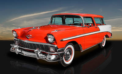 Photograph - 1956 Chevrolet Bel Air Nomad by Frank J Benz