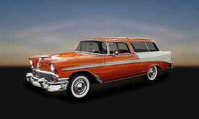 Photograph - 1956 Chevrolet Bel Air Nomad Station Wagon  -  56chnomad541 by Frank J Benz