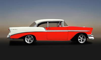 Photograph - 1956 Chevrolet Bel Air Sport Coupe   -  1956chevroletbelair148997 by Frank J Benz