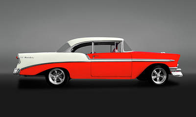 Photograph - 1956 Chevrolet Bel Air Sport Coupe   -  1956chevybelaircoupegry148997 by Frank J Benz
