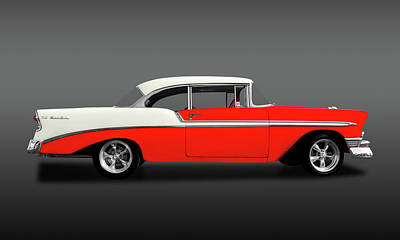 Photograph - 1956 Chevrolet Bel Air Sport Coupe   -  1956chevybelairhdtpfa148997 by Frank J Benz
