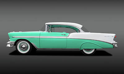Photograph - 1956 Chevrolet Bel Air Sport Coupe  -  56belairchevygr138171 by Frank J Benz