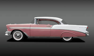 Photograph - 1956 Chevrolet Bel Air Sport Coupe  -  56belairchevyrose138171 by Frank J Benz