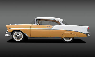 Photograph - 1956 Chevrolet Bel Air Sport Coupe  -  56belairchevytan138171 by Frank J Benz