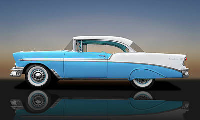 Photograph - 1956 Chevrolet Bel Air Sport Coupe  -  56belairsportcoupereflect138171 by Frank J Benz