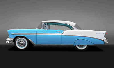 Photograph - 1956 Chevrolet Bel Air Sport Coupe  -  56chevybelairspcpegry138171 by Frank J Benz