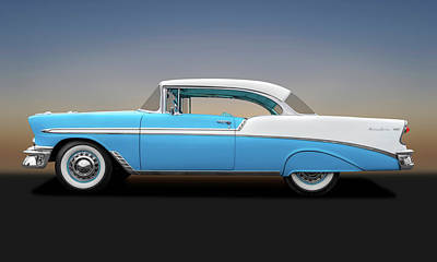 Photograph - 1956 Chevrolet Bel Air Sport Coupe  -  56chevybelairsportcoupe138171 by Frank J Benz