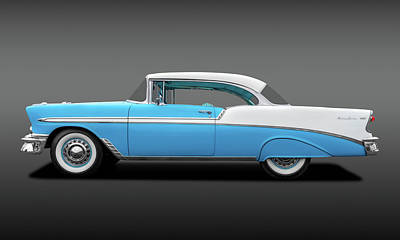 Photograph - 1956 Chevrolet Bel Air Sport Coupe  -  56chevybelairsportcoupefa138171 by Frank J Benz
