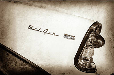 Photograph - 1956 Chevrolet Bel Air Taillight -038s by Jill Reger