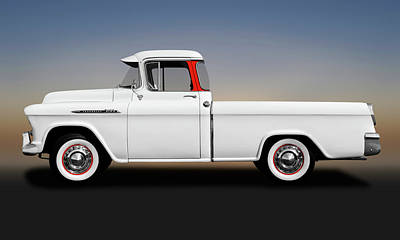 Photograph - 1956 Chevrolet Cameo Pickup Truck  -  1956chevroletcameopickup173599 by Frank J Benz