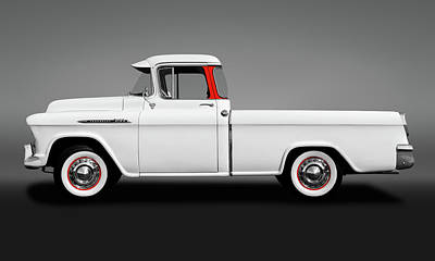 Photograph - 1956 Chevrolet Cameo Pickup Truck  -  1956chevy3100cameogry173599 by Frank J Benz