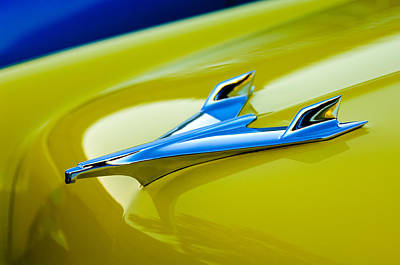 1956 Chevrolet Hood Ornament Print by Jill Reger