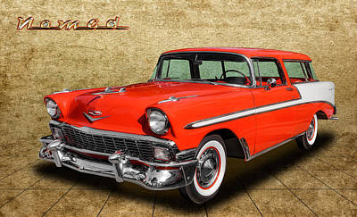 Photograph - 1956 Chevrolet Nomad by Frank J Benz