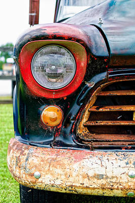 Rusty Old Trucks Photograph - 1956 Chevy 3200 Pickup Grill Detail by Jon Woodhams