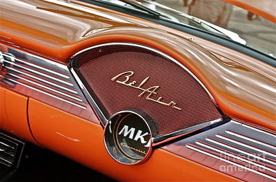 Photograph - 1956 Chevy Bel Air Dash by Linda Bianic