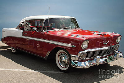 Photograph - 1956 Chevy Bel Air by Victoria Harrington