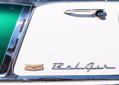 Photograph - 1956 Chevy Belair Green Wht 0316 by Rospotte Photography