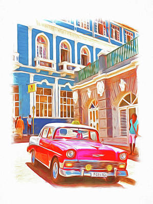 Photograph - 1956 Chevy Cuban Taxi by Dennis Cox WorldViews