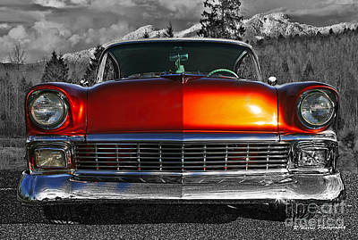 Impressionist Landscapes - 1956 Chevy front end abstract by Randy Harris