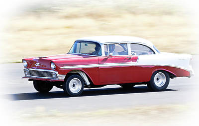 Photograph - 1956 Chevy Hot Rod by Athena Mckinzie