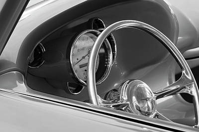 1956 Chrysler Hot Rod Steering Wheel Print by Jill Reger