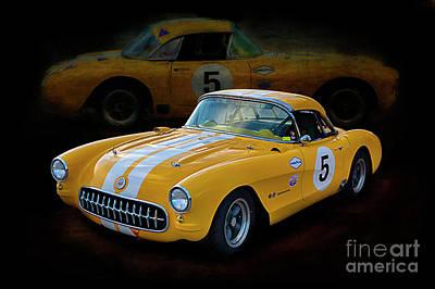 Photograph - 1956 Corvette 2 by Stuart Row