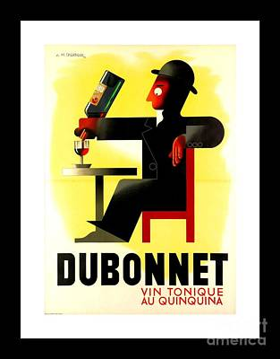 Vintner Painting - 1956 Dubonnet Poster By Adolphe Mouron Cassandre by Peter Gumaer Ogden Collection