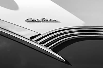 Photograph - 1956 Ford Club Sedan Emblem -536bw by Jill Reger