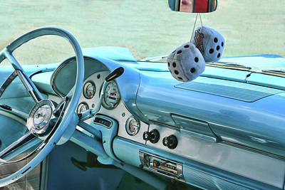 Photograph - 1956 Ford Fairlane by Allen Beatty