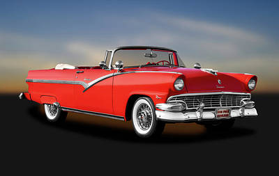 Photograph - 1956 Ford Fairlane Sunliner  -  1956fordfairlanesunliner185942 by Frank J Benz