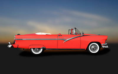 Photograph - 1956 Ford Fairlane Sunliner  -  1956fordfairlanesunlinerconvert185945 by Frank J Benz