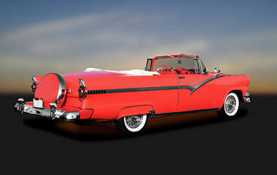 Photograph - 1956 Ford Fairlane Sunliner  -  1956fordsunlinerconvertible185943 by Frank J Benz