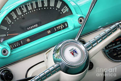 Photograph - 1955 Ford Steering And Dash  by Dennis Hedberg