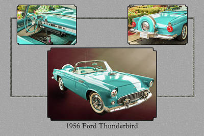 Photograph - 1956 Ford Thunderbird 5510.01 by M K Miller