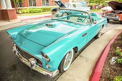Photograph - 1956 Ford Thunderbird 5510.10 by M K Miller
