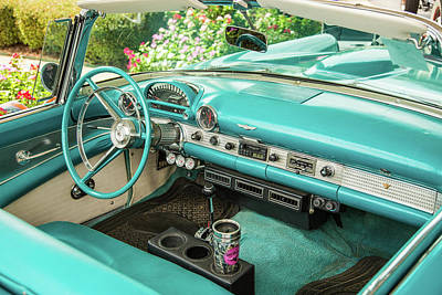 Photograph - 1956 Ford Thunderbird 5510.11 by M K Miller