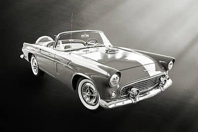 Photograph - 1956 Ford Thunderbird 5510.54 by M K Miller