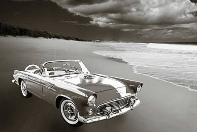 Photograph - 1956 Ford Thunderbird 5510.55 by M K Miller