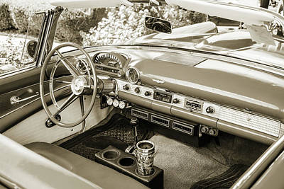 Photograph - 1956 Ford Thunderbird 5510.59 by M K Miller