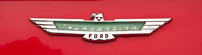 Photograph - 1956 Ford Thunderbird Emblem by Glenn Gordon