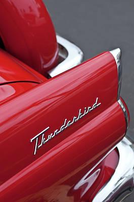 Tail Photograph - 1956 Ford Thunderbird Taillight Emblem 2 by Jill Reger